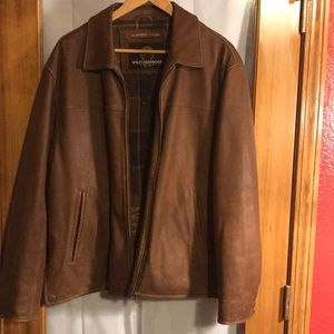 Brown Weatherproof garment company leather jacket